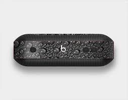 The Black Rain Drops Skin Set For The Beats Pill Plus Designskinz