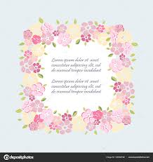 Template Flowers Party Invitation Greeting Card Postcard Girl