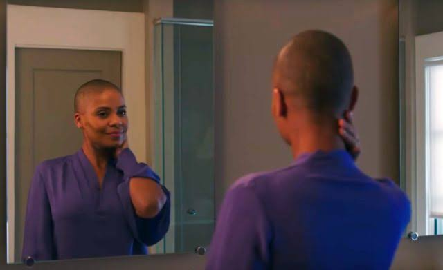violet jones looking in the mirror