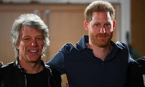 Photos: Prince Harry teams up with Jon Bon Jovi for a good cause ...