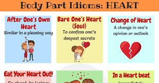 heart idioms sayings in english