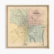 Vintage Map of Lancaster PA (1864 ...