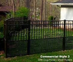 Commercial Aluminum Fence With 24 Inch High Dog Panel Puppy Pickets Backyard Fences Dog Fence Diy Dog Fence