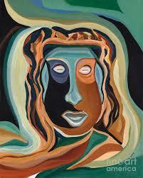 Drama Man - Working title Painting by Ida Mitchell