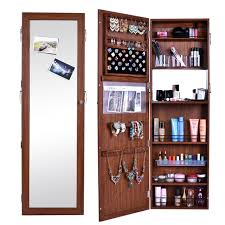 mirror jewelry storage cabinet european