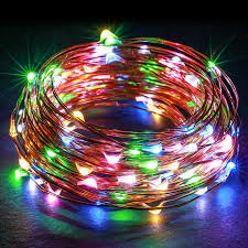 Combo 2 dây đèn led dây đồng không giật, chống nước nhiều màu 10M - Đèn  trang trí Thương hiệu OEM
