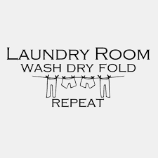 Art Wall Sticker Laundry Room Wash Dry Fold Home Decal Decor Vinyl Decals Quote For Sale Online