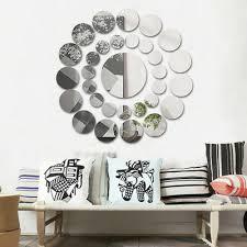 durable 31x round mirror wall sticker