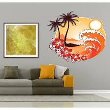 Shop Full Color Decal Beach Sun Ocean Sticker Beach Sun Decal Wall Art Decal Sticker Decall Size 48x48 Overstock 13932215