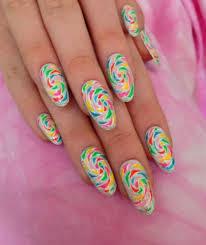 easy diy candy swirls nail art styleoholic