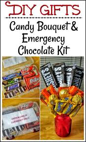 diy candy bouquet and emergency