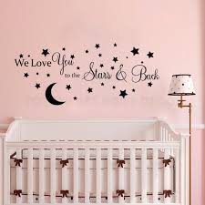 Moon And Stars Vinyl Wall Sticker Kids Boys Baby Bedroom Wall Decal Removable Ebay