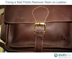 nail polish remover stains on leather