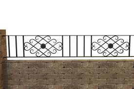 Wrought Iron Walltop Railing Decorative Panel Bespoke Made To Size Bespoke Gates And Railings