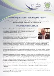 Honouring the Past – Securing the Future
