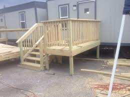wood ADA stairs and access ramp - Clayton Construction Services LLC
