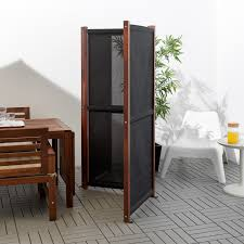 Slatto Privacy Screen Outdoor Black Brown Stained Ikea
