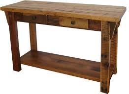 reclaimed barn wood sofa table with 2