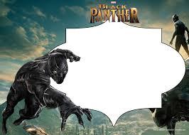 Free Printable Black Panther Invitation Templates Convite De