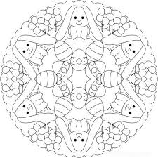 Free Easter Colouring Pages Kleurplaten Mandala Kleurplaten
