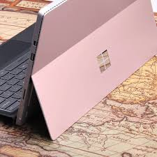 For Microsoft Surface Pro 4 Laptop Skin Anti Scratch Rose Gold Pure Color Removable Bubble Free Slim Decal Laptop Sticker Tablet Decals Aliexpress