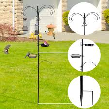 bird feeder pole hangers plant stand