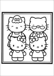 Kids N Fun Kleurplaat Hello Kitty Familieportret Van Kitty