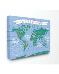 Sweet Savings On The Kids Room By Stupell Kids World Map Colorful Nursery Design Canvas Wall Art By Daphne Polselli