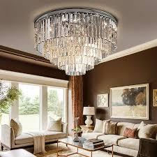 modern vintage chandelier crystal flush