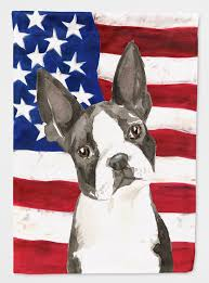 usa boston terrier flag garden size