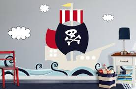 Pirate Ship By Colormewall On Etsy 148 90 Pirate Room Kids Room Wall Decals Kids Wall Decals