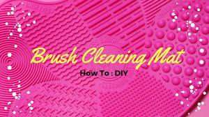diy makeup brush cleaner mat saubhaya