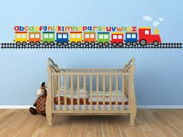 Baby Nursery Baby Boy Wall Decals For Nursery Train Wall Sticker Alphabet Abc Vinyl Art Colorful Blue Stained Wall Ba Kids Wall Decals Abc Wall Baby Wall Decor