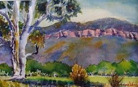 592-Yvonne West-Valley View-Oil-$250 - Bright Art Gallery and Cultural  Centre