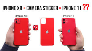 Change Your Iphone Xr Into Iphone 11 Style With A Camera Sticker Youtube