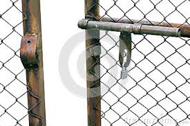 Chain Link Fence Gate Royalty Free Stock Image Cartoondealer Com 53985784