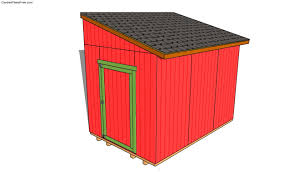 lean to shed plans free free garden