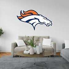 Denver Broncos Logo Wall Decal Nfl Football Decor Sport Mural Vinyl Stiker Ebay