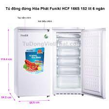 Tủ đông đứng Hòa Phát Funiki HCF 166S 152 lít 6 ngăn - Giá rẻ T9/2020