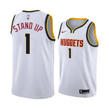 Denver Nuggets Michael Porter Jr. stand up White #1 Jersey - Association  Edition