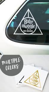 Harry Potter Baby Muggle On Board Hp Harrypotter Harrypotterfan Baby Sticker Decals Car Fanart Harry Potter Car Harry Potter Baby Chelles