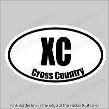 Cross Country Running Vinyl Car Bumper Sticker Window Decal