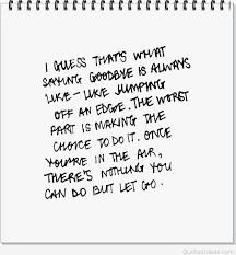 sad goodbye inspirational quote