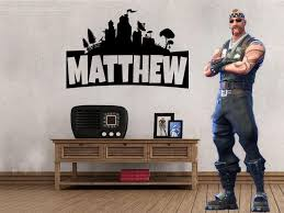 Inspired By Fortnite Custom Personalized Name Wall Decal Sticker 32 2 Lucky Girl Decals