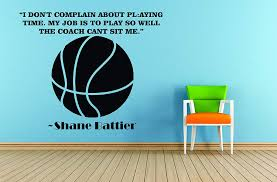 Amazon Com Basketball Quotes Sports Decals Inspirational Wall Decal Stickers For Girls And Boys Room Creative Decoration Vinyl Removable Art Shane Battier Size 20x20 Inch Home Kitchen