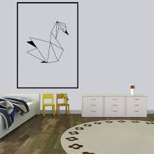 Nordic Geometric Swan Wall Sticker Wall Decal Wallstickers House Decor For Baby Kids Room Decoration Wallpaper Home Mural Full Wall Decal Full Wall Decals From Onlinegame 10 13 Dhgate Com
