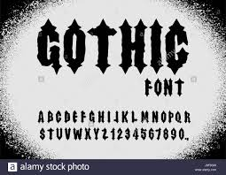 Gothic Font Ancient Font Gothic Letters Vintage Alphabet Letters Stock Vector Image Art Alamy