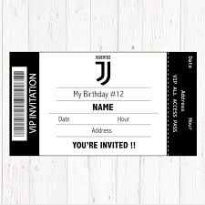 Juventus Invitation Printable Digital Birthday Party Invitation