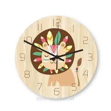 12 Inch Wall Clocks Kids Silent Modern Home Kitchen Clock Wall For Children Room Living Diy Animal Cartoon Clock Bedroom Decor Buy At The Price Of 14 24 In Aliexpress Com Imall Com