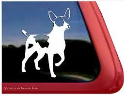 Custom Rat Terrier Dog Decals Stickers Nickerstickers